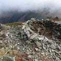 Wind break on top of Little Baldy.- Silver Star Mountain via the Bluff Mountain Trail