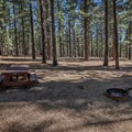 Typical site at Boca Spring Campground.- Boca Spring Campground