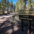 Boca Spring Campground sits in a mountainous shady grove.- Boca Spring Campground