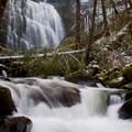 Heavy flow in March.- University Falls