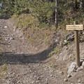 The Wildhorse Trail junction with the Hood Creek Trail.- Hood Creek