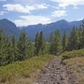 On the Hood Creek Trail.- Hood Creek