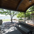 Summer concessions and picnic area at Hobie Hill on Cherry Creek Reservoir's west shore.- Cherry Creek State Park