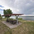 Picnic shelters at the East Shades Day Use Area within Cherry Creek State Park.- Cherry Creek State Park