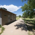 Restroom facilities at West Shades Day Use Area, Cherry Creek State Park.- West Shades Swim Beach + Day Use Area