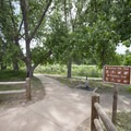 Trailhead at the Shop Creek parking area.- Wetland Loop Trail Hike