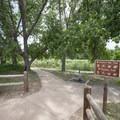 Trailhead at the Shop Creek parking area.- Wetland Loop Trail Hike