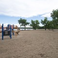 Playground structure at Cherry Creek Swim Beach and Day Use Area.- Cherry Creek Swim Beach + Day Use Area