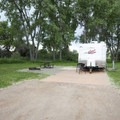 Typical campsite at Cherry Creek State Park Campground.- Cherry Creek State Park Campground