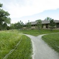 Restroom, shower and laundry facilities at Cherry Creek State Park Campground.- Cherry Creek State Park Campground