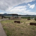 Group picnic area and horseshoes at Chatfield State Park.- Chatfield State Park