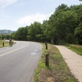 Bicyclist at Chatfield State Park.- Chatfield State Park