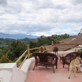 View to the Andes Mountain Range from Casa Mojanda rooftop.- Casa Mojanda