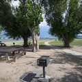 Picnic area at Chatfield Reservoir Swim Beach.- Chatfield Reservoir Swim Beach