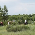 Horseback riders along the South Platte River Loop Trail.- South Platte River Loop Trail