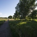 Hiking trail through South Platte Park.- South Platte Park