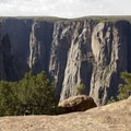 An informal overlook along the Green Mountain Trail over the Black Canyon of the Gunnison.- Green Mountain Trail + Exclamation Point