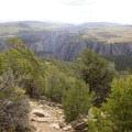 The Black Canyon of the Gunnison seen from the summit of Green Mountain.- Green Mountain Trail + Exclamation Point