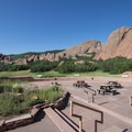 Picnic area at the Roxborough State Park Visitor Center.- Roxborough State Park + National Natural Landmark