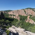 View west from the Lyons Overlook.- Roxborough State Park + National Natural Landmark