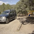 A typical campsite at North Rim Campground.- North Rim Campground, Colorado