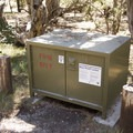 Bear boxes are provided at North Rim Campground for appropriate food storage.- North Rim Campground, Colorado