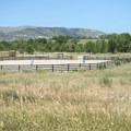 Public horse corral at Bear Creek Lake Regional Park.- Bear Creek Lake Regional Park