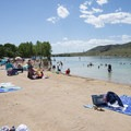 Big Soda Lake Swim Beach.- Big Soda Lake Swim Beach + Day Use Area