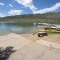 Boat ramp at Big Soda Lake, Bear Creek Lake Regional Park.- Big Soda Lake