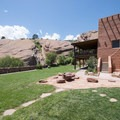 Red Rocks Park Visitor Center and Colorado Music Hall of Fame.- Red Rocks Amphitheater + Park