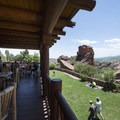 View from the Red Rocks Park Visitor Center.- Red Rocks Amphitheater + Park