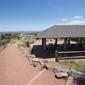 Picnic shelter at the north end of Red Rocks Park.- Red Rocks Amphitheater + Park