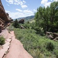 Nine Parks Rock along the Trading Post Trail, Red Rocks Park.- Trading Post Trail