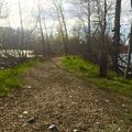 Raw trail and Yakima river ahead.- Irene Rinehart Riverfront Park