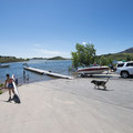 Satanka Bay boat ramp and day use area on Horsetooth Reservoir's north end.- Horsetooth Reservoir County Park