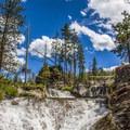 The first waterfalls before reaching the campground.- Paulina Creek Waterfalls Mountain Biking