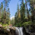 Another beautiful spot and another waterfall.- Paulina Creek Waterfalls Mountain Biking