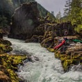 Opting for the seal launch on the North Santiam River.- North Santiam River: Niagara Section