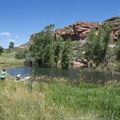 Soldier Cove of Horsetooth Reservoir at Lory State Park.- Lory State Park