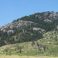 View up toward Arthur Rock (6,780 ft) at Lory State Park.- Lory State Park