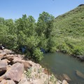 Orchard Cove of Horsetooth Reservoir at Lory State Park.- Lory State Park