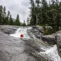 The final series of steep slides.- Upper Lion Creek