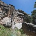 Climbing crag on Arthur's Rock.- Arthur's Rock Hike