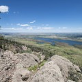 View northeast looking over Horsetooth Reservoir and the Great Plains of Colorado.- Arthur's Rock Hike