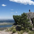 Hikers on the summit of Arthur's Rock, Lory State Park.- Arthur's Rock Hike