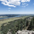 View southeast looking over Horsetooth Reservoir and the Great Plains of Colorado.- Arthur's Rock Hike