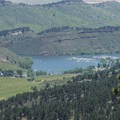 View southeast looking over Horsetooth Reservoir's Inlet Bay.- Arthur's Rock Hike