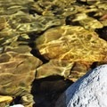 Crystal clear waters at the falls.- Sunset Falls Campground