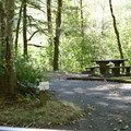 Typical site at Sunset Falls Campground.- Sunset Falls Campground