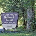 National Forest Sign at Camp Entry- Sunset Falls Campground